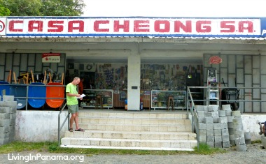 Front of hardware store, Casa Cheong