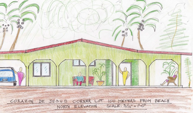 Drawing of the North Elevation Of Proposed House Design