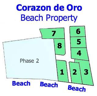 Site Plan of 8 beach properties in Puerto Armuelles Panama
