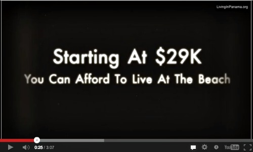 "Youtube screenshot: ""starting at $29K. you can afford to live at the beach"
