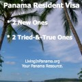 Beach Scene with text - 4 options for your panama resident visa