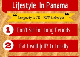Infographic on 4 tips on how to be healthy in Panama